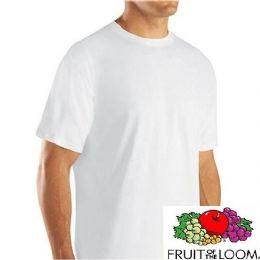 24 Wholesale Fruit Of The Loom Men's 3pk White Crew T-Shirt Medium Size Only