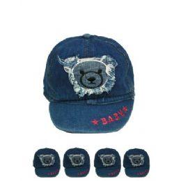 72 Units of Kid Summer Hat One Color - Kids Baseball Caps