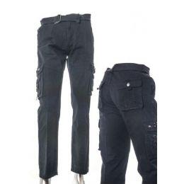 12 Units of Men's Fashion Cargo Pants 100% Cotton Size Scale A Only - Mens Pants