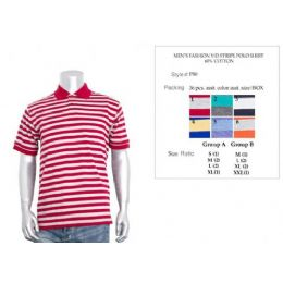 36 of Men's Fashion Y/d Stripe Polo Shirt In Size Chart B Only