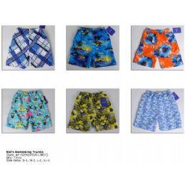 72 Units of Printed Boy's Swim Trunks - Boys Shorts