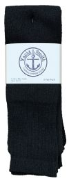240 Units of Yacht & Smith Men's Cotton 31 Inch Tube Socks, Referee Style, Size 10-13 Solid Black Bulk Buy - Men's Socks for Homeless and Charity