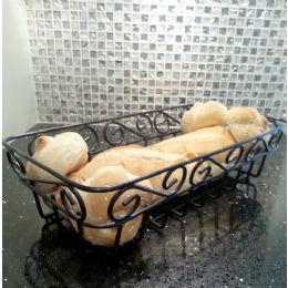 12 Units of Wholesale Black Metal Bread Basket - Baskets