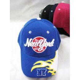 60 Units of Kids Ny Baseball Cap Assorted - Kids Baseball Caps