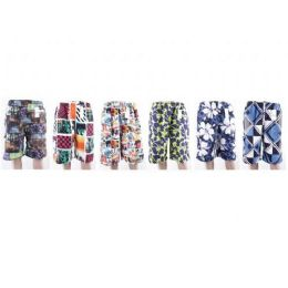 72 Units of Mens Printed Bathing Suits - Mens Bathing Suits