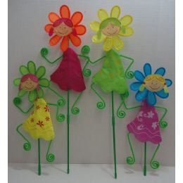 """120 Units of 8.5"""" Wind SpinneR--Girl With Daisy - Wind Spinners"""