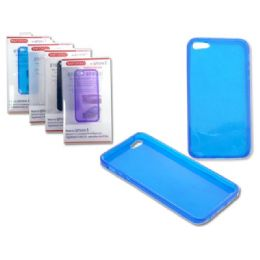 """144 of Iphone 5 Tpu Cover 2.4"""" X5"""" Gray,blue,white,clr"""