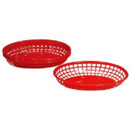 """48 Units of 4 Pack Oval Baskets 9""""x5.625""""x2"""" - Baskets"""