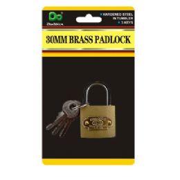 120 Units of 30mm Brass Padlock - Padlocks and Combination Locks