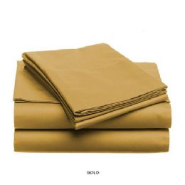 12 Units of 3 Piece Solid Sheet Set Gold - Sheet Sets