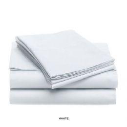 12 Units of 3 Piece Solid Sheet Set White - Sheet Sets