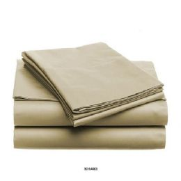 12 Units of 3 Piece Solid Sheet Set Taupe Queen Size - Sheet Sets