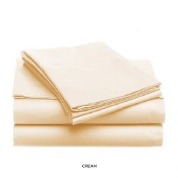 12 Units of 3 Piece Solid Sheet Set Ivory Queen Size - Sheet Sets