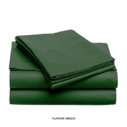 12 Units of 3 Piece Solid Sheet Set Green Queen Size - Sheet Sets