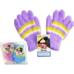 288 Bulk Kids' Fuzzy Gloves, 18g
