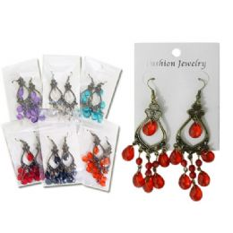 288 Units of Earring 1pr Asst Clr - Earrings