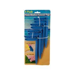 36 Wholesale Wholesale 4 Pack Picnic Blank Fastener Pegs