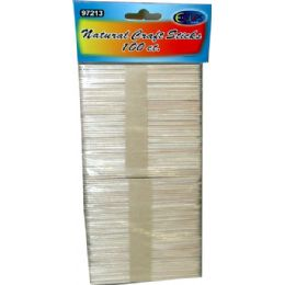 96 Units of Craft Sticks 100pcs - Craft Wood Sticks and Dowels