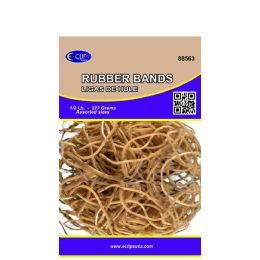 60 Bulk Rubber Bands, 1/2lbs, Assorted Sizes, Natural Color (3 Inners Of 20)