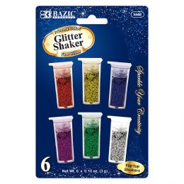 144 Units of 6 Primary Color Glitter Shaker - Craft Glue & Glitter