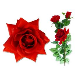 144 Units of 3 Head Rose - Artificial Flowers