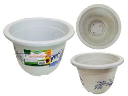 24 Units of White Flower Planter - Garden Planters and Pots