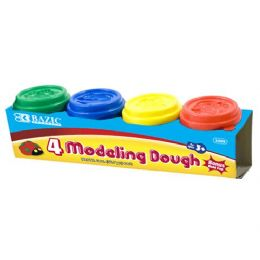 72 Units of Multi Color Modeling Dough 4 Pack - Clay & Play Dough