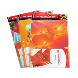72 Units of Placemat Fruit 4+4 - Placemats