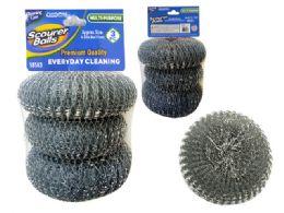96 Units of 3 Piece Scourer Balls - Scouring Pads & Sponges