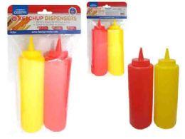 96 Units of 2pc Ketchup Condiment Squeeze Bottle Dispenser - Kitchen Gadgets & Tools