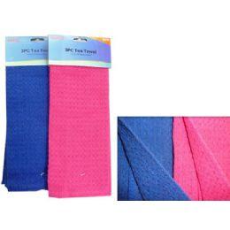 """192 Units of Tea Towel 3pc 11.8""""x11.8"""" 2clrhc. - Linens"""