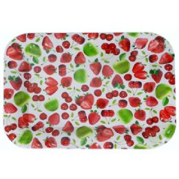 48 Units of Assorted Fruit Design Rectangle Tray - Serving Trays