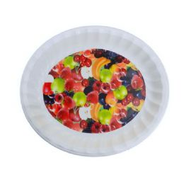 48 Units of Deep Round Tray Asst Fruit Design - Serving Trays