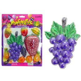 96 Units of Memo Magnetic 10pcs 4asstfruit - Memo Holders and Magnets