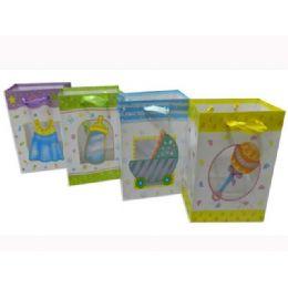 144 Units of Gift Baby Bag Xxl W/ Ribbon45*32*10cm - Gift Bags