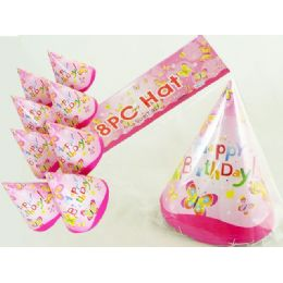 144 Units of Hats 8pc Butterfly Designt.light 10pc - Party Favors
