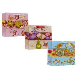 144 Units of Every Day Gift Bags Floral Design - Gift Bags Assorted