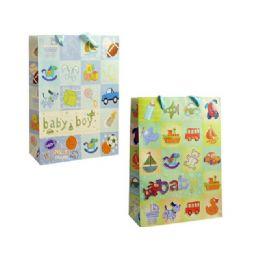 144 Units of Bag Xl 3bb Gl 8.5x30x10.5 2asst Design - Gift Bags