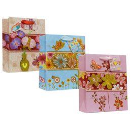144 Units of Bag L But 3d 34x26x10cm 3asst - Gift Bags
