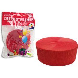 96 Units of Streamer Red 1pc 4.5cmx50cm - Streamers & Confetti