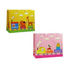 144 Units of Gift Bag Rectangle Baby Design - Gift Bags Baby
