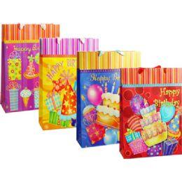 144 Units of Gift Bag L 30x10.5x38.5cmh'day - Gift Bags
