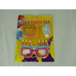 144 Units of Birthday Set 4pcs - Party Favors