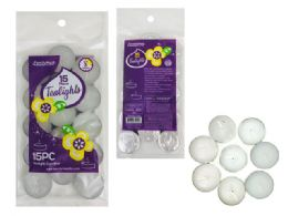 96 Bulk 15pc White Unscented Tealight Candles