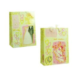 144 Units of Gift Bag Wedding Design - Gift Bags Assorted