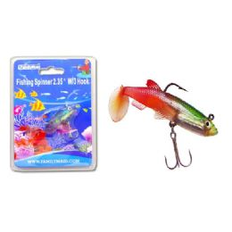 144 of Fishing W/3hook 3asst Clr Red+yellow,red+black,red Clr
