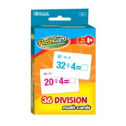 48 Bulk Bazic Division Flash Cards (36/pack)