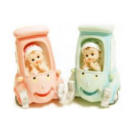 48 Units of Baby On Car 2 Assorted Color - Home Decor