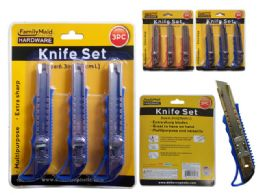 144 Units of 3 Piece Box Cutters - Tool Sets