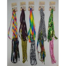 48 Units of 1 Pair Shoe LaceS--Assorted Printed - Footwear Accessories